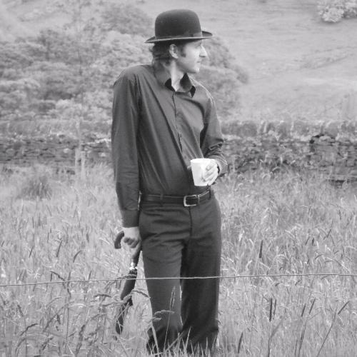 Jops enjoys a rural cuppa